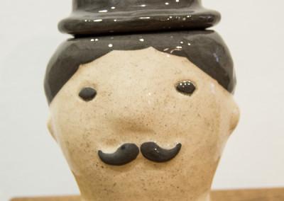 Чаплін (цукерничка – скринька) від Ольги Пильник.