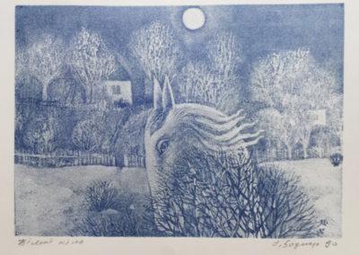 "Ihor Bodnar. ""White horse"", 1990"