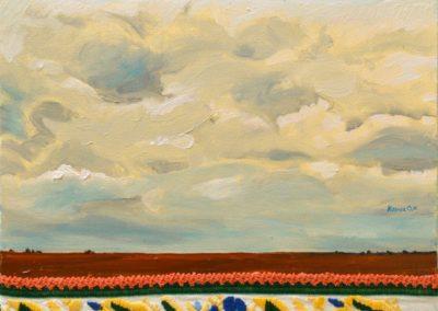 Олеся Казнох «Стіна хмар над полем». З циклу «Співставляння»