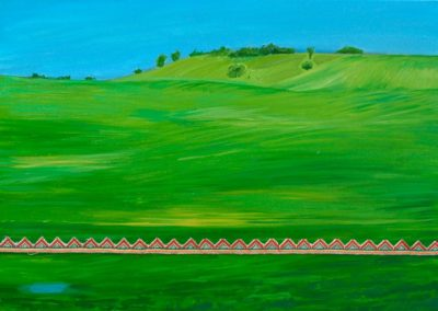 """Olesia Kaznokh """"Green hill"""". From the """"Ploughland"""" cycle"""