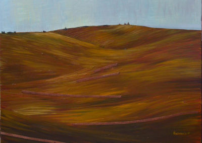 """Olesia Kaznokh """"Hill plowed"""" From the """"Ploughland"""" cycle"""