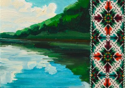 """Olesia Kaznokh """"Quiet river"""" From the """"Comparison"""" cycle"""