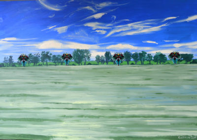 """Olesia Kaznokh """"Sea of field"""" From the """"Ploughland"""" cycle"""