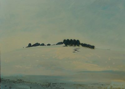 """Olesia Kaznokh """"Hill under snow. Dream"""" From the """"Ploughland"""" cycle"""