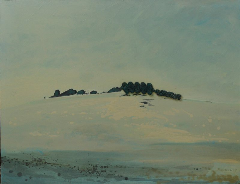 "Olesia Kaznokh ""Hill under snow. Dream"" From the ""Ploughland"" cycle"