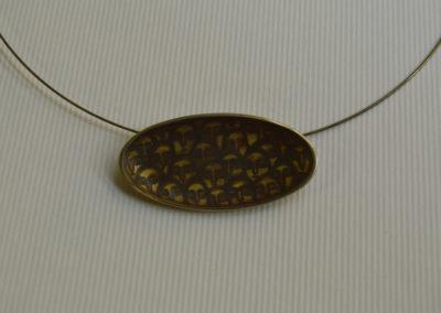 Painted pendant. Olya Kravchenko handmade