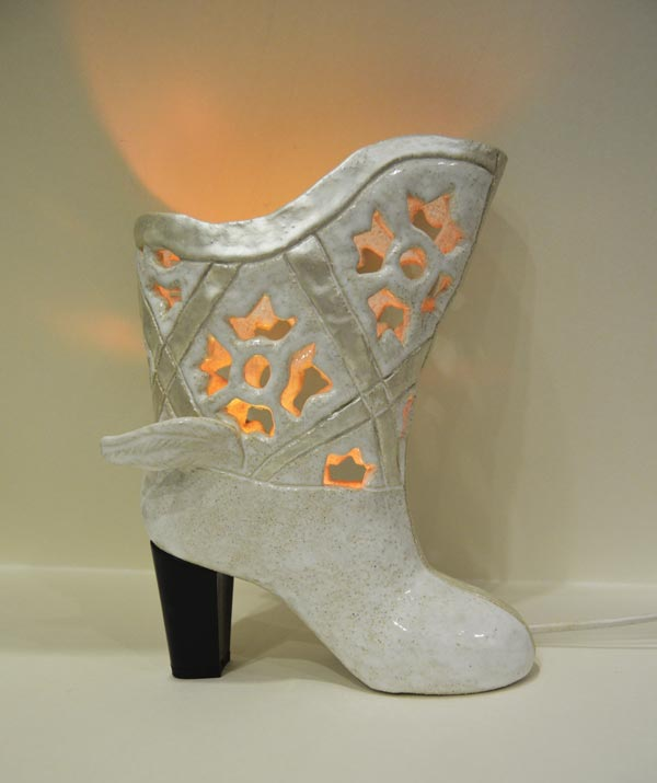 Shoe. Olga Pylnyk handmade ceramic. Lamp.