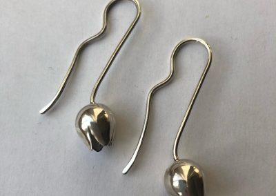Silver earrings/ Olia Kravchenko handmade