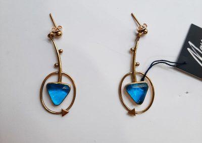 Earrings by Maya handmade jewelry. Thriangle.