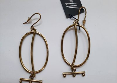 Earrings by Maya handmade jewelry. Oval with canes