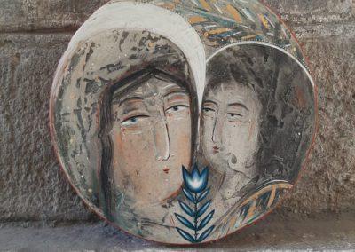 Благовіщення кругле художниці Уляни Нищук.