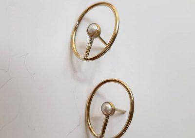 Earrings with pearls. Maya Kotelnytska handmade
