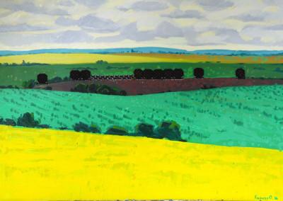 Yellow field. Olesya Kaznokh.