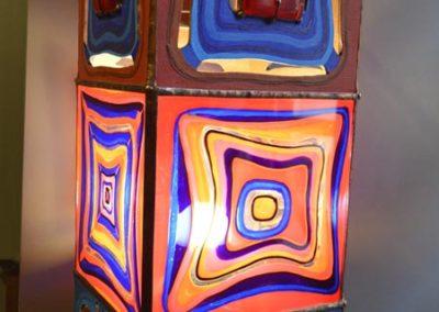 """Labyrinths of dreams"". Lamp. Natalia Gaydash handmade."