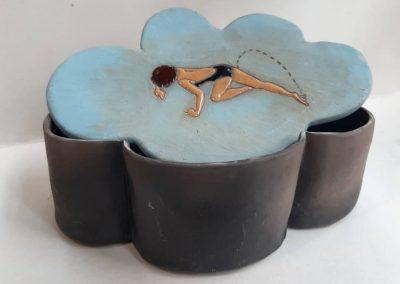 Ceramic box. Artist: Andriana Kurutz (Uzhorod)