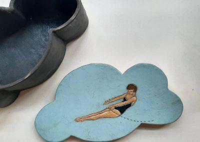 Ceramic box 1. Artist: Andriana Kurutz (Uzhorod)