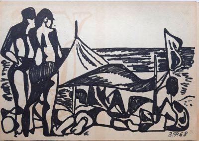 Zenoviy Flinta. Drawing #41. 1968