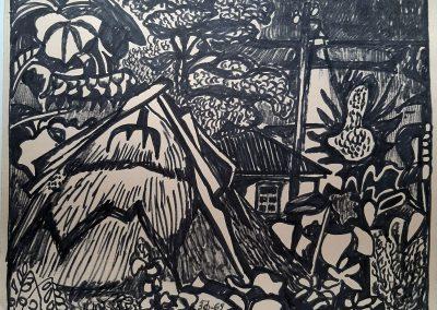Zenoviy Flinta. Drawing #73. 1969