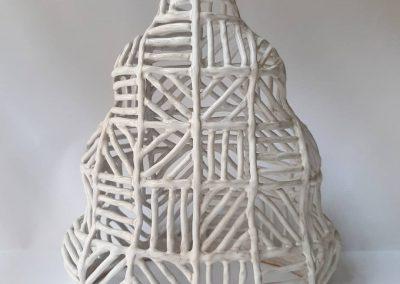 Christmas tree. Ceramic table lamp. Pylnyk handmade