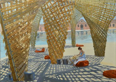 "Olesya Kaznokh ""Embroiderer on the Venice Architecture biennale 2018"", 2019"