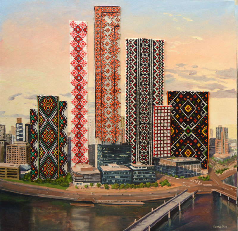 "Olesya Kaznokh ""City of embroiderers"", 2020"