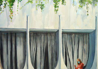 """Олеся Казнох """"Вишивальниця на карантині"""", 2020"""