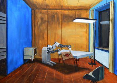 "Olesya Kaznokh ""Robot – housekeeper decides to embroider"", 2020"