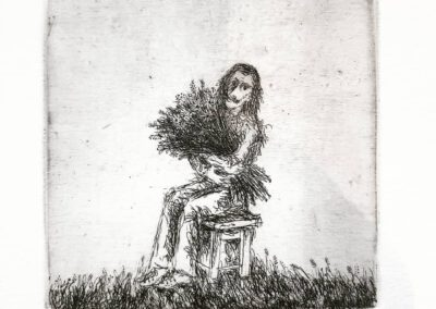 """Flowers for…"" 1976, Etching. Ivan Ostafiychuk."
