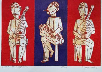 Bohdan Soroka. Lira musician and bandura musicians.