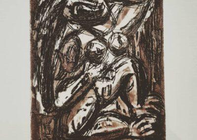 """""""Nude"""" 1975, Etching. Ivan Ostafiychuk."""