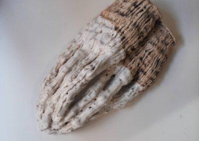 Ceramic sculpture Hands. Artist: Liuda Davydenko